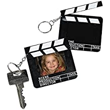 12 Director's Clapboard Keychain Party Favors - Photo Frames
