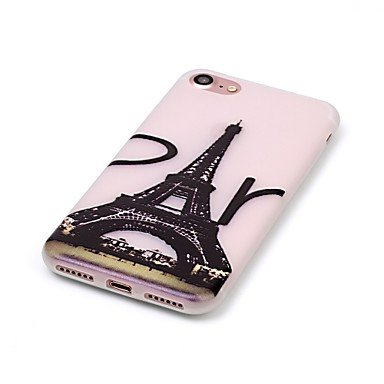 Fundas y estuches para teléfonos móviles, brillan en la Torre Eiffel modelo oscuro en relieve material de la caja del teléfono de TPU para el iPhone 7 7 más 6s 6 Plus SE 5s 5 ( Modelos Compatibles : I IPhone 6s Plus/6 Plus