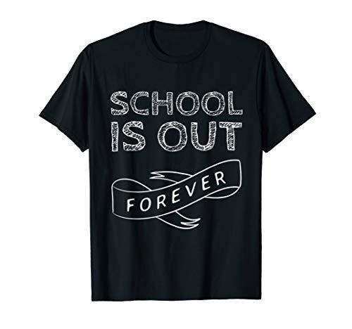 School Is Out Forever Teacher Retirement T-Shirt - T-shirt Womens Forever Dark