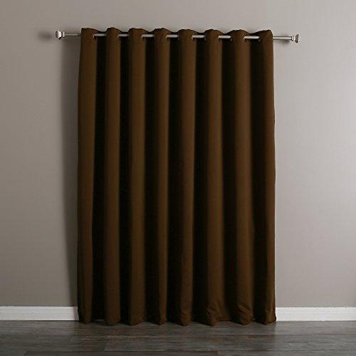 Curtains Ideas curtains double width : Double Wide Grommet Curtains: Amazon.com