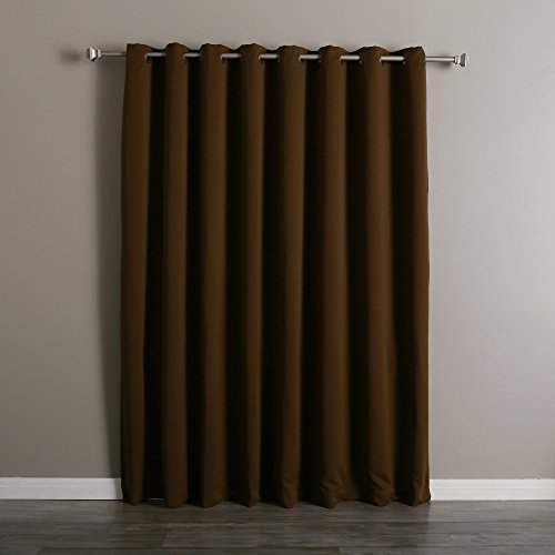 best home fashion thermal insulated blackout curtain 100 w x 84 l chocolate ebay. Black Bedroom Furniture Sets. Home Design Ideas