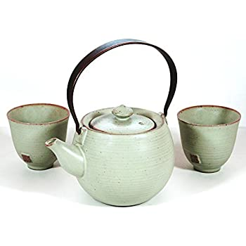 Japanese ocean blue five piece teaset tea Green tea pot set