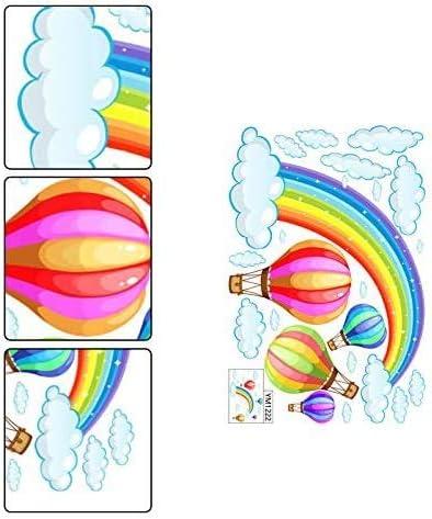 BETOY Stickers muraux amovibles pour chambre denfant Motif arc-en-ciel et nuages