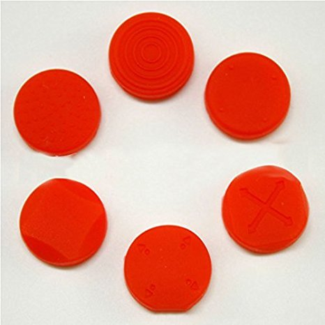Silicon Analog Thumbstick Cap cover for Sony PS Vita 1000 2000 Red - 1