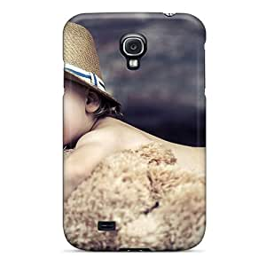 Hot NOhvPPG1316 Case Cover Protector For Galaxy S4- Baby And Teddy Bear