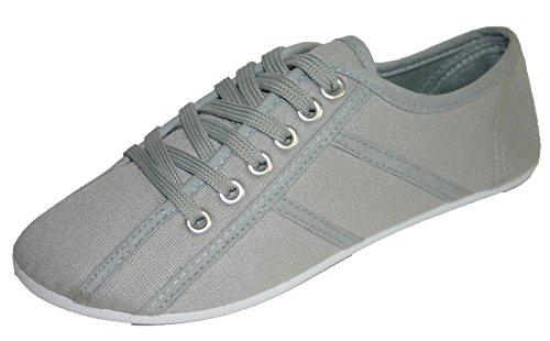 in grigio Grigio da tela donna sneaker Dunlop UZpwFx1qaW