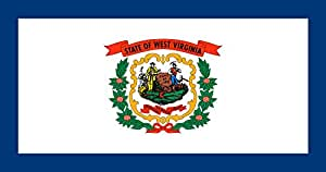 magFlags XXXL+ Flag West Virginia | landscape flag | 6.7m² | 72sqft | 190x360cm | 75x140inch - 100% Made in Germany - long lasting outdoor flag