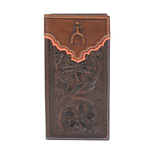 Hooey Hooey 1627137W1 Tooled Mahogany Punchy Punchy Wallet Signature Rodeo qg6wSS