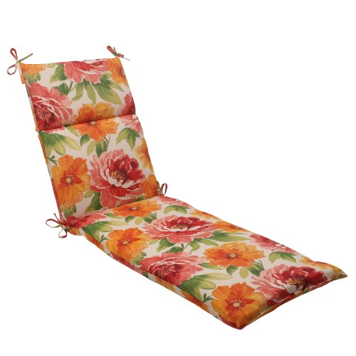 Pillow Perfect Indoor/Outdoor Primro Chaise Lounge Cushion, Orange Review