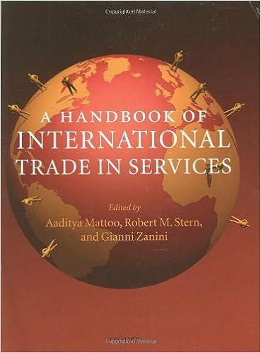 A Handbook of International Trade in Services: Aaditya