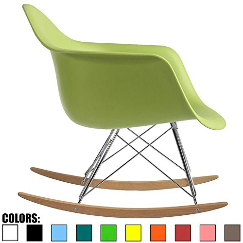 Used, 2xhome Green Mid Century Modern Molded Shell Designer for sale  Delivered anywhere in USA