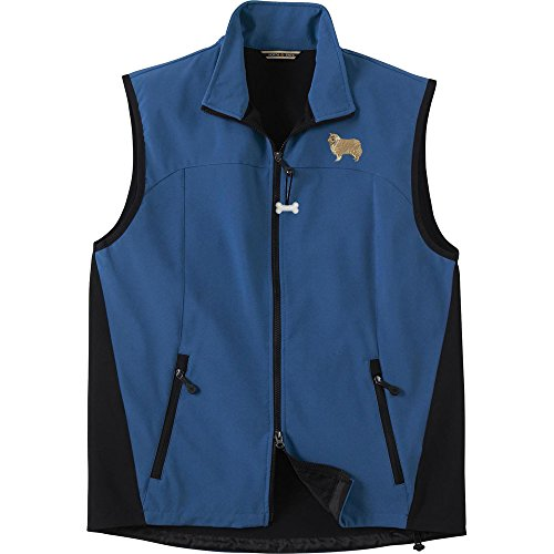 Collie Men's High Tec Vest, Bone Zipper Pull