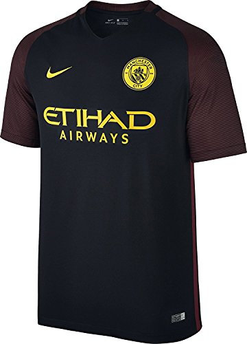 (NIKE Men's Manchester City Away Stadium Soccer Jersey 2016/2017 (Small) Black)