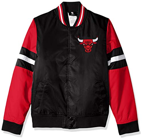 NBA by Outerstuff NBA Youth Boys Chicago Bulls Legendary Varsity Jacket, Black, Youth Large(14-16)