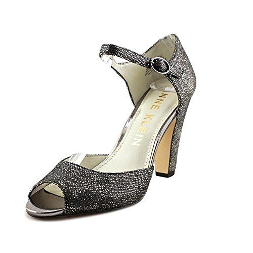 Anne Klein Women's Henrika Fabric Dress Pump Shoes Grey Size 5.5