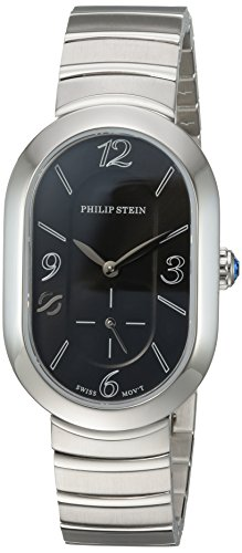 Philip Stein Women's 'Modern' Swiss Quartz Stainless Steel Casual Watch, Color:Silver-Toned (Model: 74-FB-MSS)