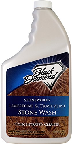 Black Diamond Stoneworks Limestone and Travertine Floor Cleaner: Natural Stone, Marble, Slate, Polished Concrete, honed or tumbled surfaces. Concentrated Ph. Neutral. Quart