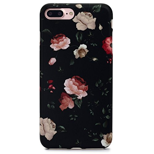 (GOLINK iPhone 7 Plus Case for Girls/iPhone 8 Plus Floral Case, Matte Floral Series Slim-Fit Anti-Scratch Shock Proof Anti-Finger Print Flexible TPU Gel Case for iPhone 7/8 Plus 5.5
