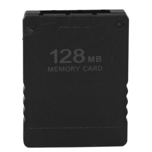 Skque 128MB Game Save Memory Card for Sony PlayStation 2 PS2,Black