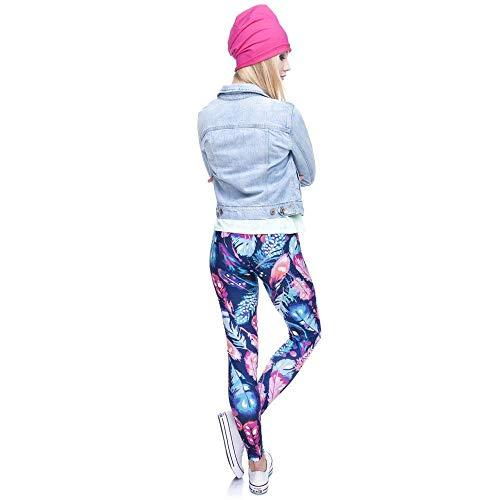 Qualità Vita Lga36750 Saoye A Slim Giovane Leggings Stampa Legins Piume Di Tee Fashion Fitness Colori Pantaloni Yoga Leggins Legging Alta Elastico xqX1Bx
