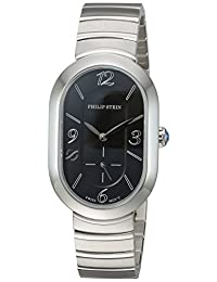 Philip Stein Women's 74-FB-MSS Modern Analog Display Swiss Quartz Silver Watch