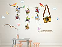 Solimo Wall Sticker for Living Room (Travel photo gallery, ideal size on wall : 180 cm X 100 cm)