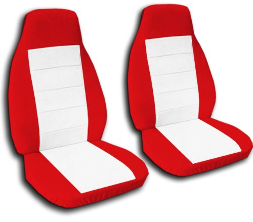 Amazon Com 2 Red And White Car Seat Covers For A 2003 Toyota Camry