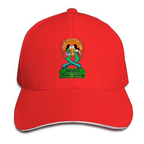 Crosby Stills Nash & Young Folk Rock Band Brim Hats Sandwich Bill Caps