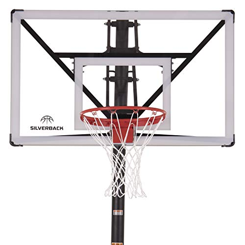 "Silverback NXT 54"" in-Ground Basketball Hoop with Adjustable-Height Backboard and"