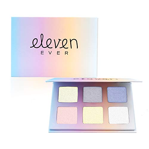 ELEVEN EVER 6 Colors Highlighter Palette Kit Face Illuminating Highlighter & Bronzer Professional Cosmetic