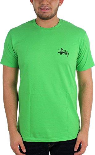 Stussy - Mens Basic Logo T-Shirt, Size: Small, Color: Kelly