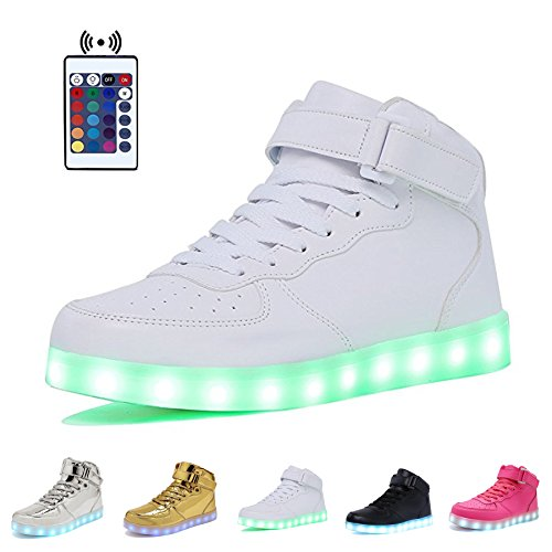 High Top Velcro LED Light Up Shoes 7