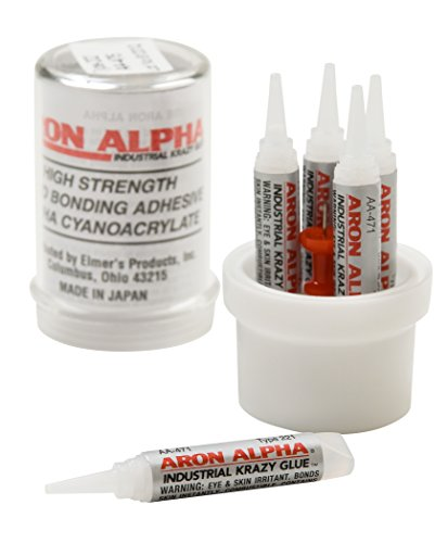 Aron Alpha Type 221 (2 cps viscosity) Fast Set Instant Adhesive, 10 g Capsule, 5 Tubes x 2 g (0.07 oz)