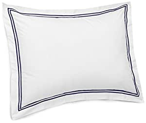 Pinzon 400-Thread-Count Egyptian Cotton Sateen Hotel Stitch Sham - Standard, Navy