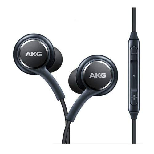OEM Two (2) Amazing Stereo Headphones for Samsung Galaxy S8 S9 S8 Plus S9 Plus S10 Note 8 9 - Designed by AKG - with Microphone + Two (2) Cable Tie Organizer Bundle Package - Non - Retail Package