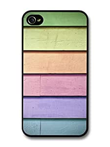 Accessories Cute Colored Wood Pattern case For Ipod Touch 5 Case Cover
