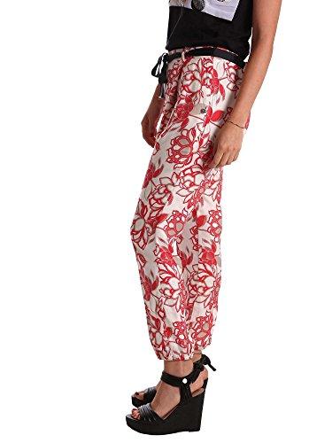 2309 E17 Noir Pantalon Caf Soft Multipapavero MJP244 wXpqva4