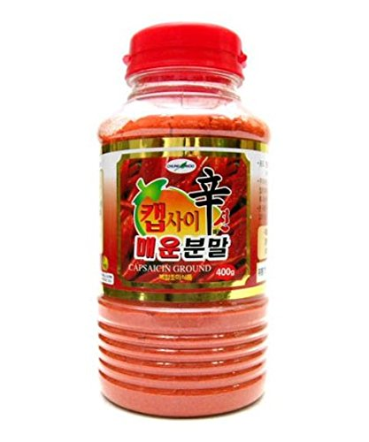 Korean Food_Chungwoo_Capsaicin Chili Pepper Powder_14.1oz(400g)_Hot Spicy Dressing for Korean Sauce by Chungwoo