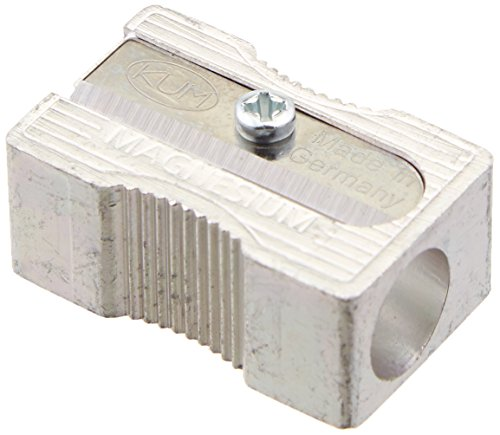 Kum 104.03.01 Magnesium Alloy Metal 1-Hole Steel Blade Rectangular Pencil Sharpeners (Sharpener Metal Pencil)