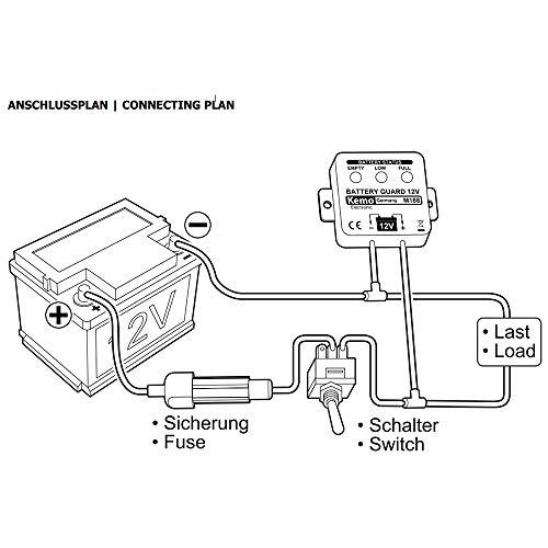 Kemo M188 Batteriewächter 12 V 5 Stufige Anzeige Mit 3 Led S Verhindert Tiefentladung Geringer Eigenverbrauch Von Weniger Als 4 9 Ma Gewerbe Industrie Wissenschaft