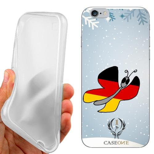 CUSTODIA COVER CASE CASEONE BUTTERFLY GERMANY PER IPHONE 6S