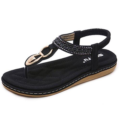 Vogstyle Nero 1 Nuove Bohemian Stile Stile A Tacco Sandali Pantofole Donne Piatto Scarpe rOqxf7wr1
