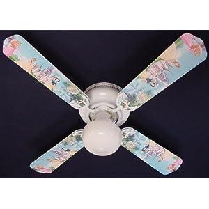 Huston Fan Kids Bedroom Ceiling Fan Light With 5 Green