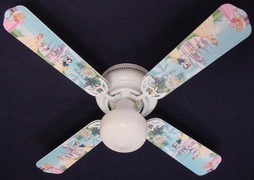 Ceiling Fan Designers Ceiling Fan, Disney Princesses Castle, 42''