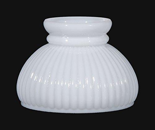 "B&P Lamp 6"" Opal Glass Rib Shade"