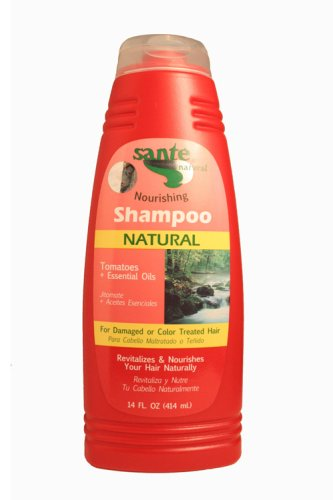 Sante Natural Nourishing Shampoo with Tomatoes + Essencial Oils - Almond, Castor, Flaxseed and