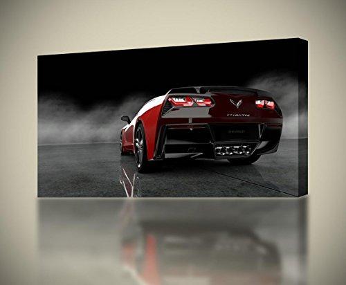 Chevrolet Corvette Stingray Car CANVAS PRINT Wall Decor Giclee Art Poster CA925, Regular