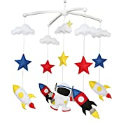 Colorful Room Decor Toy, Baby Toy, Musical Mobile, Baby Gift [Space Flight]