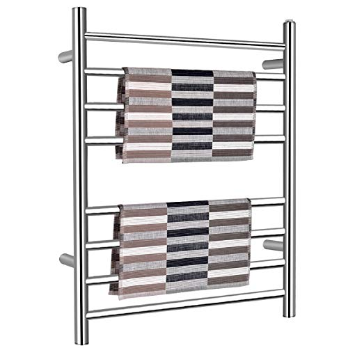 Tangkula Towel Warmer, Free Standing & Wall Mounted Stainless Steel Towel Heater for Home Bathroom, Electric Towel Warmer (24