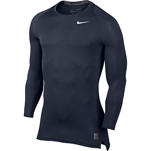 Nike Men's Pro Cool Compression L/S Obsidian/Dark Grey/White T-Shirt XL